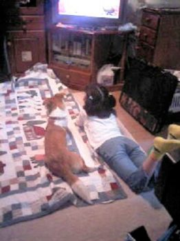 子供と一緒にテレビを見る